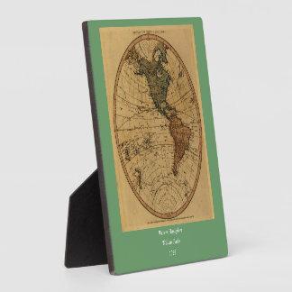 Antique William Faden 1786 Western Hemisphere Map Plaques