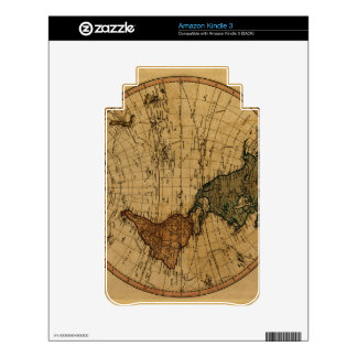 Antique William Faden 1786 Western Hemisphere Map Decal For Kindle