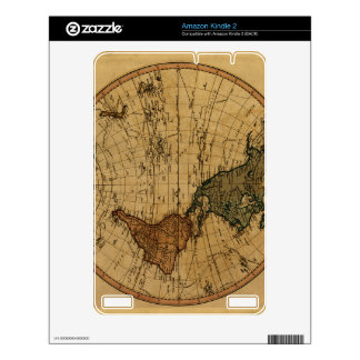 Antique William Faden 1786 Western Hemisphere Map Decal For Kindle 2