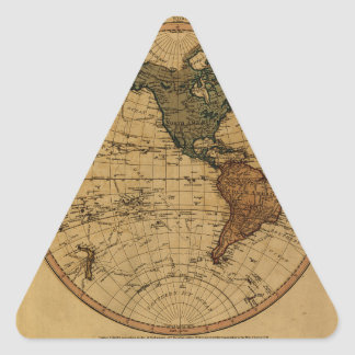 Antique William Faden 1786 Western Hemisphere Map Stickers