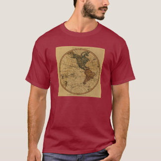 Antique William Faden 1786 Western Hemisphere Map T-Shirt