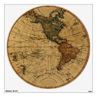 Antique William Faden 1786 Western Hemisphere Map Wall Decal