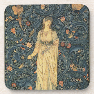 Antique William Morris Flora Beverage Coaster