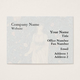 Antique William Morris Flora Business Card