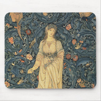 Antique William Morris Flora Mouse Pad