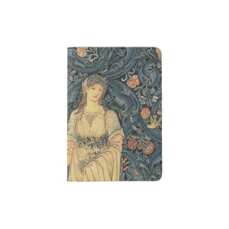 Antique William Morris Flora Passport Holder