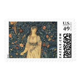 Antique William Morris Flora Tapestry Stamp