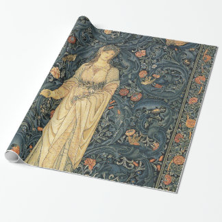 Antique William Morris Flora Wrapping Paper