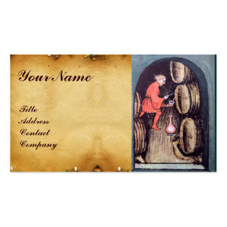ANTIQUE WINE CELLAR AND VINEYARD HARVEST MONOGRAM Double-Sided STANDARD BUSINESS CARDS (Pack OF 100)