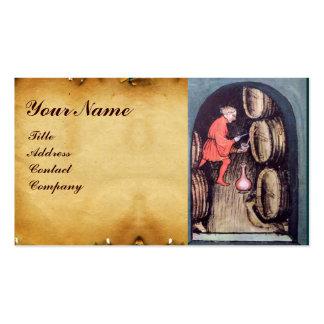 ANTIQUE WINE CELLAR  MONOGRAM BUSINESS CARD