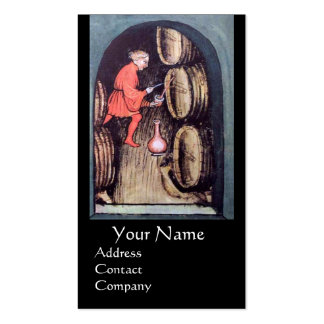 ANTIQUE WINE CELLAR  RED WAX SEAL MONOGRAM Double-Sided STANDARD BUSINESS CARDS (Pack OF 100)