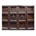Antique wood door in Florence Postcards