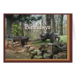 antique wood shingle maker- customize any occasion cards
