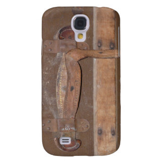 Antique Wood Trunk Buckle and Strap Galaxy S4 Cover