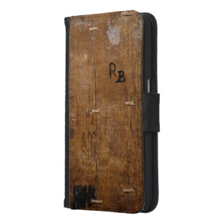 Antique Wood Wallet Phone Case For Samsung Galaxy S6