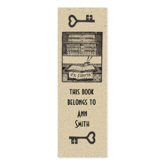 Antique Woodblock Bookmark Mini Business Card