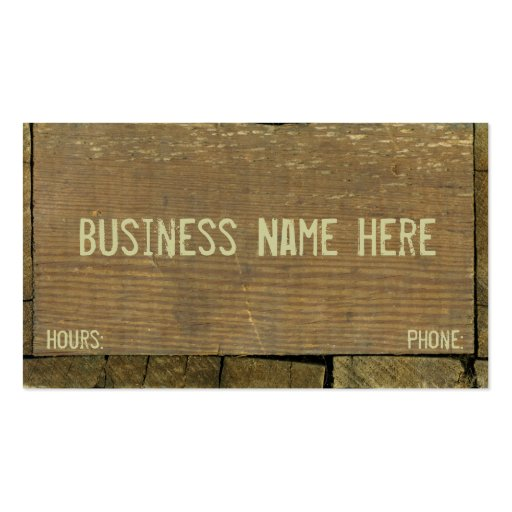 Antique wooden boards weathered wood business card zazzle for Woodwork business cards