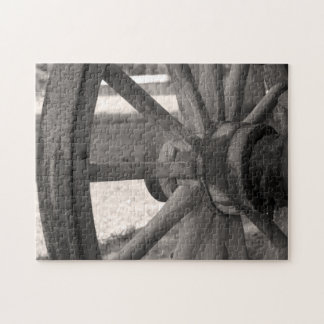 Antique Wooden Wagon Wheel Puzzle