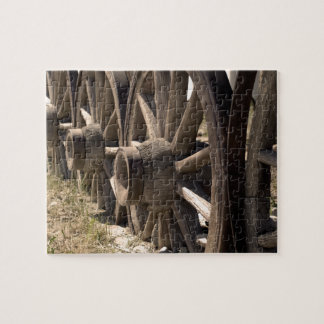 Antique Wooden Wagon Wheels Jigsaw Puzzle
