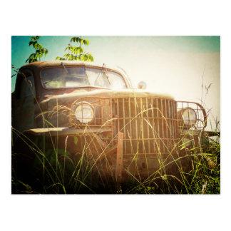 Antique Work Truck Postcard