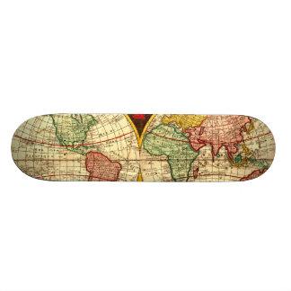 Antique World Globe Map Vintage Art Wall Board