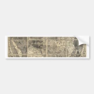 Antique World Map 1507 Bumper Sticker