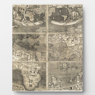 Antique World Map 1507 Display Plaques