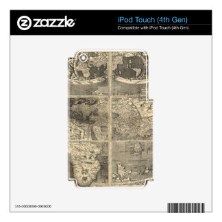 Antique World Map 1507 iPod Touch 4G Decals