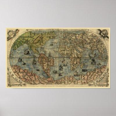 world map wallpaper high resolution. Antique World Map, 1565