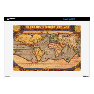 "Antique World Map 15"" Laptop Decal"