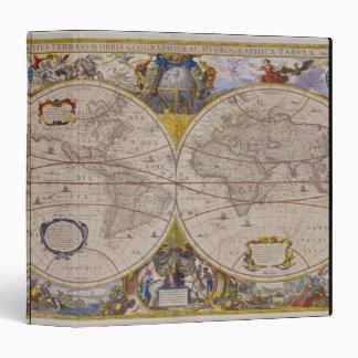 Antique World Map 2 Binder