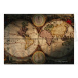 Antique world map 2 card