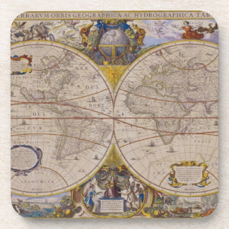 Antique World Map 2 Coaster