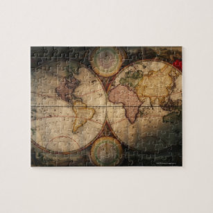 Antique map of the world jigsaw puzzles zazzle antique world map 2 jigsaw puzzle gumiabroncs Choice Image