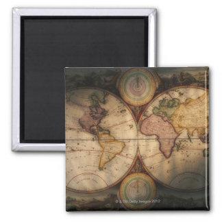 Antique world map 2 refrigerator magnet
