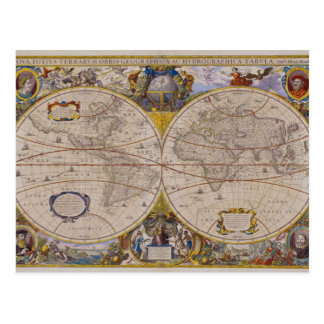 Antique World Map 2 Postcard