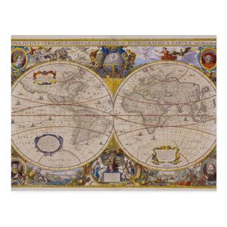 Antique World Map 2 Postcard