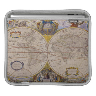 Antique World Map 2 Sleeve For iPads