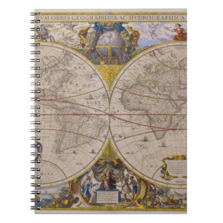 Antique World Map 2 Spiral Notebook