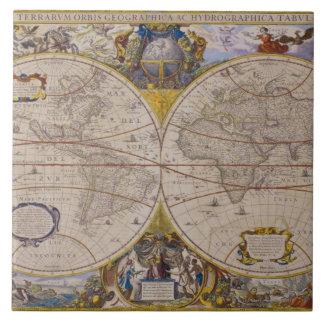 Antique World Map 2 Tile