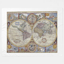 World map fleece blankets zazzle gumiabroncs Image collections