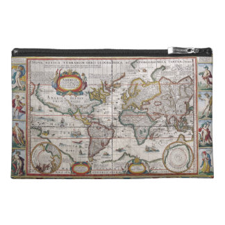 Antique World Map accessory bags