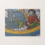 Antique World Map; Amerigo Vespucci Jigsaw Puzzles