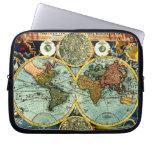 Antique World Map Art Laptop Sleeve