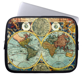 Antique World Map Art Laptop Sleeve