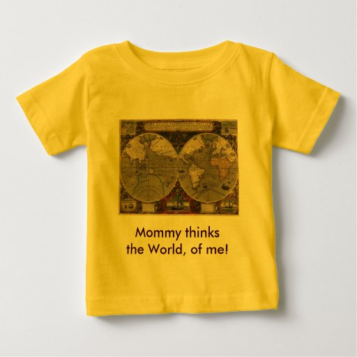 Antique World Map Baby T-Shirt
