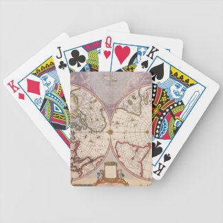 Antique World Map Bicycle Playing Cards