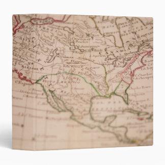 Antique World Map Binder