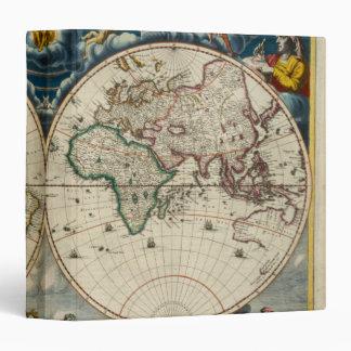 Antique World Map - Blaeu, Joan 1664 3 Ring Binder