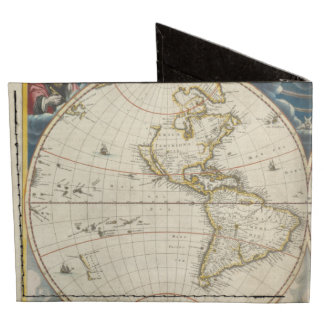 Antique World Map - Blaeu, Joan 1664 Billfold Wallet